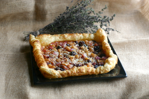 Apple, Summer Savory and Chipotle Chutney Tart