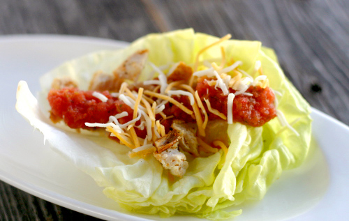 Lime and Smoked Paprika Chicken in Lettuce Cups
