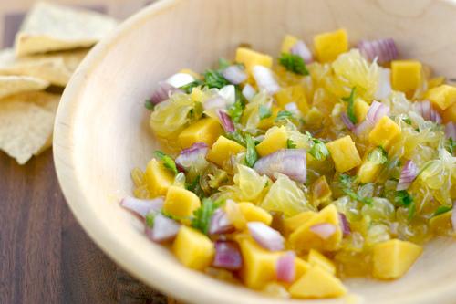 Ugli Fruit and Mango Salsa