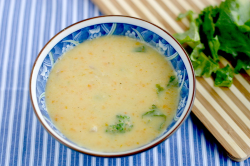 Cheddar and Broccoli Rabe Soup