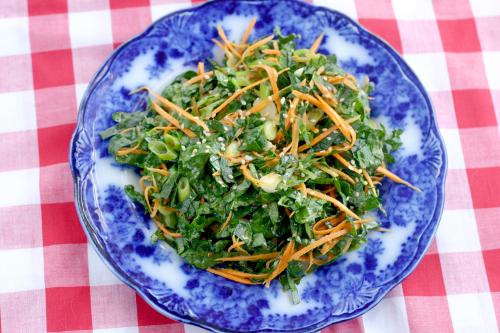 Spicy Sesame Kale Slaw
