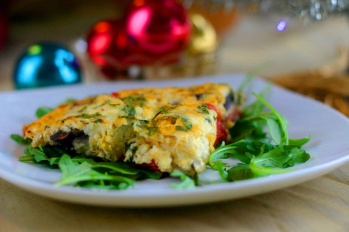 Purple Potato and Chorizo Frittata