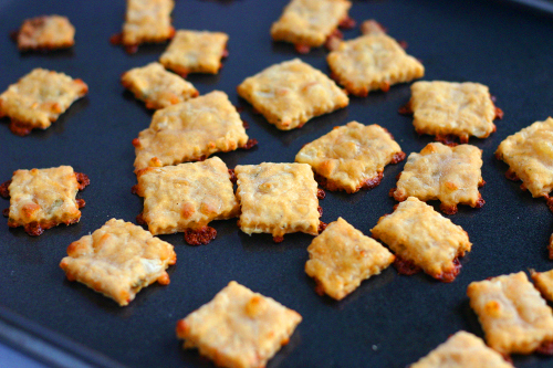Crackers in a pan