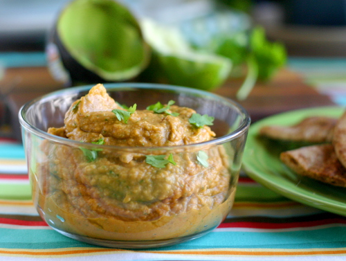 Avocado, Ancho and Cilantro Hummus