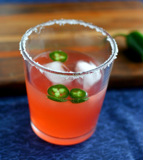 Blood Orange and Jalapeno Margarita