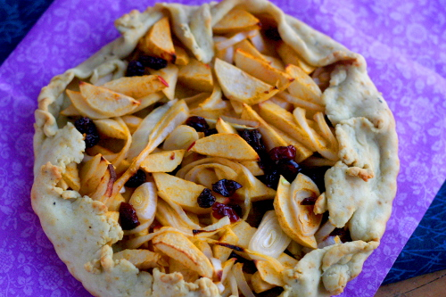 Chipotle Apple, Onion and Fruit Galette
