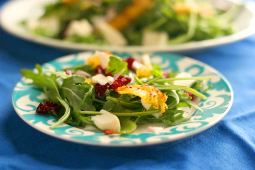 Roasted Orange and Salad Cranberry Salad with Mozzarella