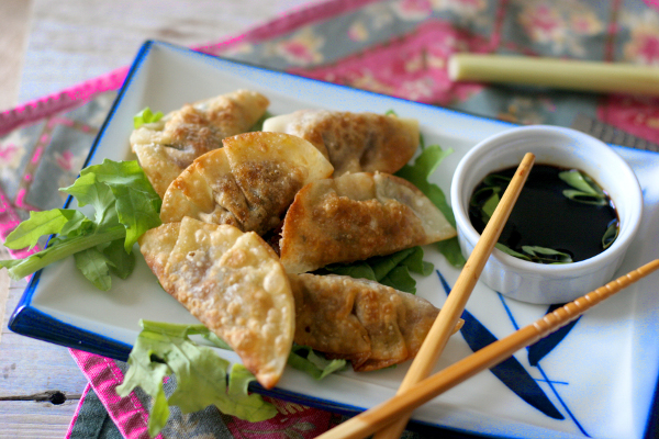 Turkey and kale dumplings