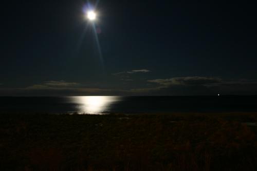 Maine Beach Moon