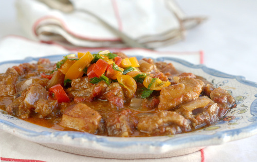 Spicy Pork Stew with Lemony Salsa Cruda