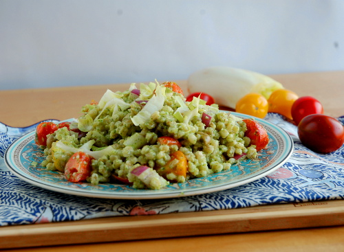Barley and Endive Salad with Parsley Pesto