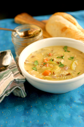 Blackened Chicken and Wild Rice Soup