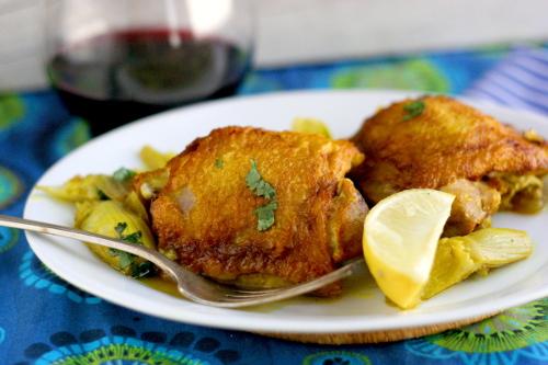 Turmeric and Lemon Artichoke Chicken